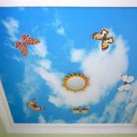 уровневые натяжные потолки фото