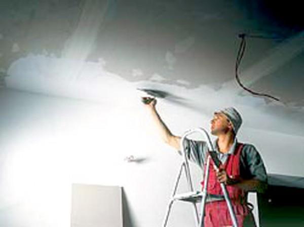 Готовая шпатлевка для потолка