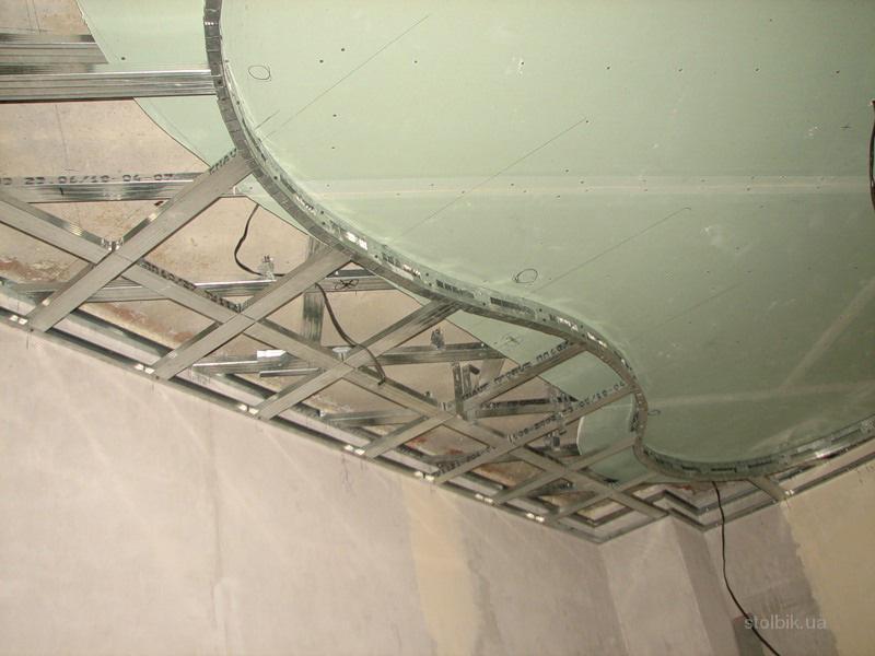 Как сделать каркас для натяжного потолка своими руками