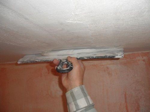 шпатлевка гипсокартонного потолка
