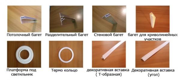 Комплектующие для тканевых натяжных потолков