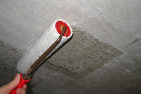 виды грунтовок для потолка