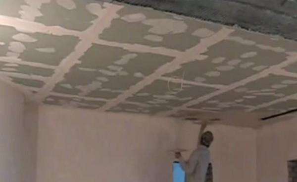 какую шпатлевку для потолка