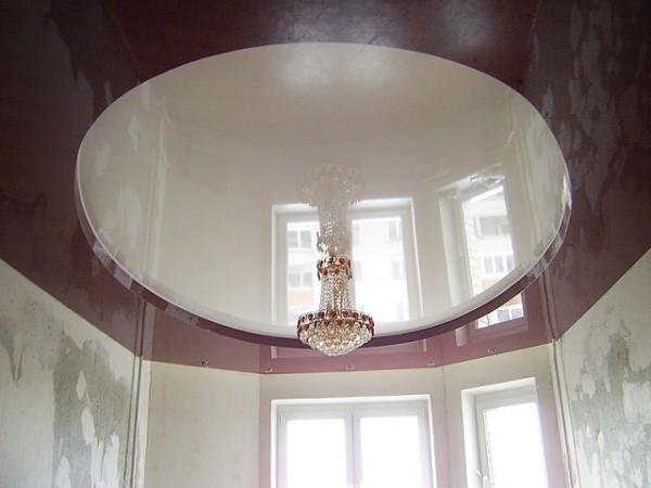двухуровневые натяжные потолки фото зал