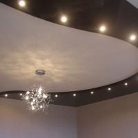 двухуровневые потолки натяжные фото