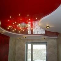 двухуровневые потолки натяжные