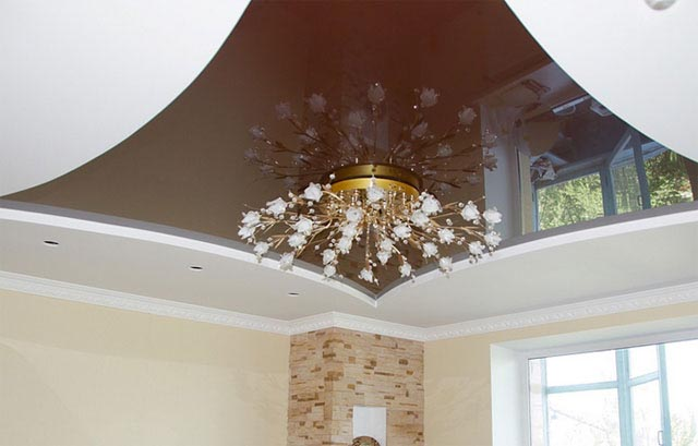 Дизайн потолков из гипсокартона натяжные потолки