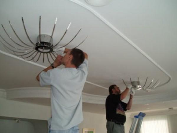 люстры для натяжного потолка фото